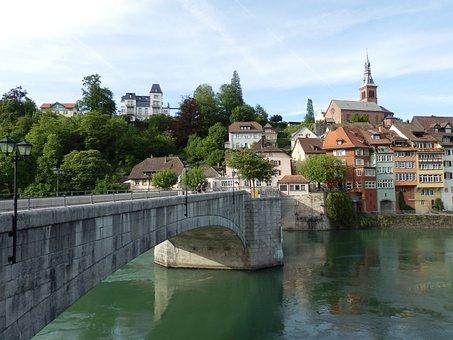 Laufenburg, Rhine, Rheinbrücke, Stone Bridge, Aargau