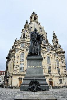 Luther, Frauenkirche, Martin Luther, Dresden, Building