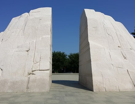 Martin Luther King, Park, Monument, Memorial, Black