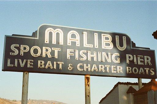 Malibu, Pier, Sign