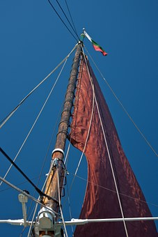 Sail, Red, Red Sail, Mast, Rigging, Old Thames Barge