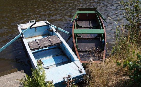 Rowboat, Barge, Punts, River, Boat