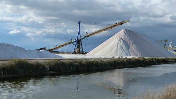 Landscape, Industrial, Exploitation Of Salt, Salt