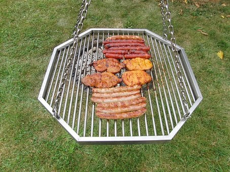 Barbecue, Grilling, Fire, Preparation, Sausage