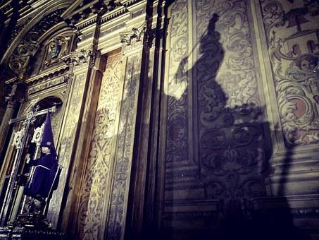 Shadow, Effect Of Light, Church, Parish, Wall, Temple