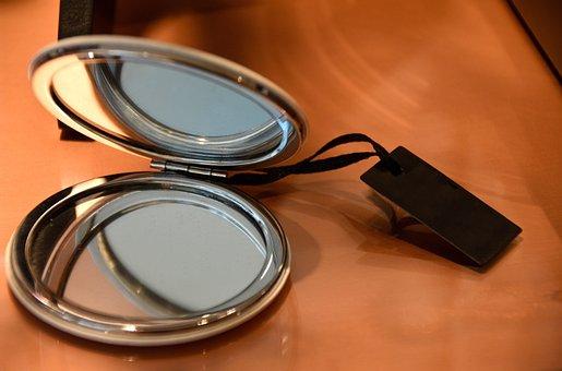 Cosmetics, Mirror, Make Up, Reflection, Silvery