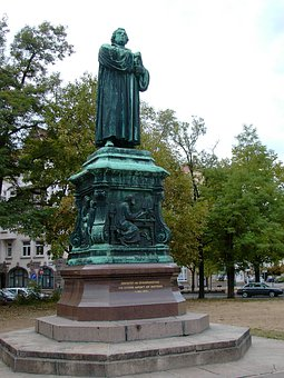 Martin Luther, Monument, Still Image, Bronze