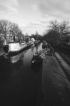 London, Street, Canal, Sunshine, City, Urban, England