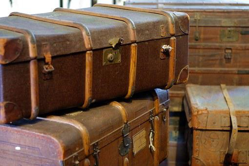 Trunks, Suitcase, The Crates, Travel, Holidays