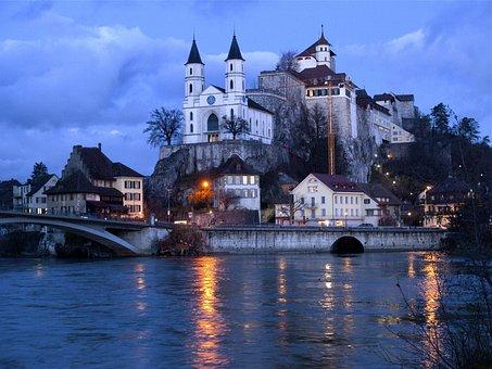 Aarburg, Switzerland, Canton Of Aargau, Castle, Aare