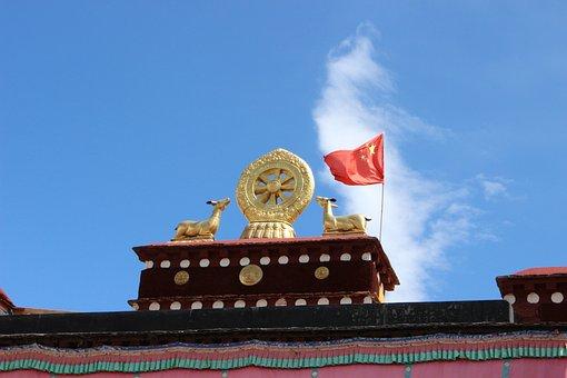 Tibet, Jokhang Temple, China, The National Flag, Lhasa