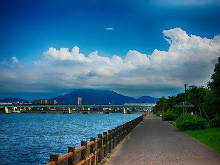 Summer, Blue Sky, Towering Cumulus Clouds Observed