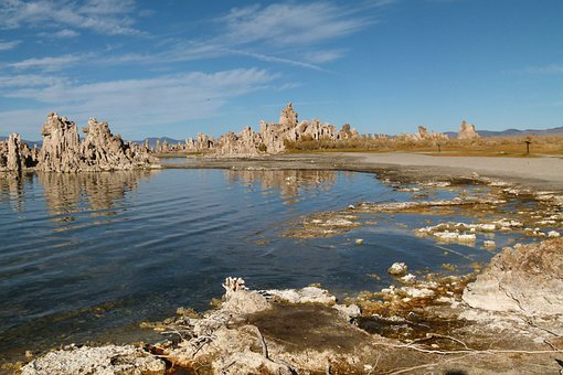 Mono, Lake, California, Usa, Tufa, Tuff, Landscape
