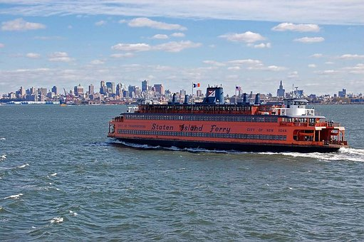 Travel, New, York, Ferry, Liner, Ship, Vessel, Water