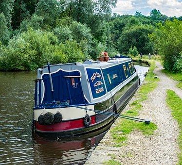 Canal, Boat, Water, Barge, Stalybridge