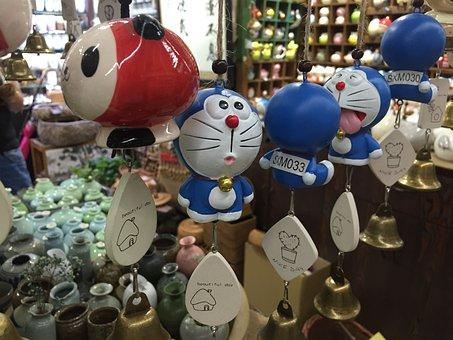 Doraemon, Manga, Wind Chimes, Hanging, Toys, Shopping