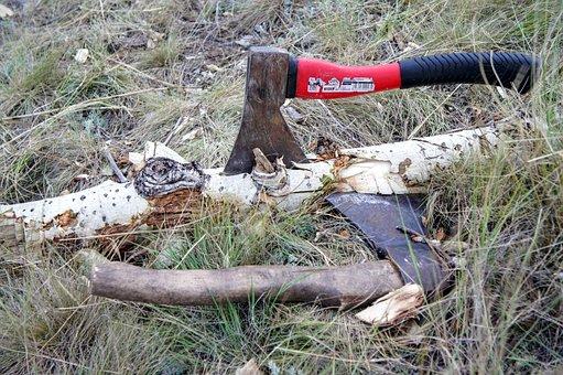 Axe, Wood Chop, Blade, Ax, Hack, Log, Tree Stump