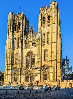 Belgium, Brussels, Cathedral Of St Michael