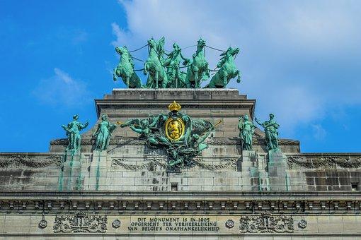 Belgium, Brussels, Arc, Sculpture, Cinquantenaire Park