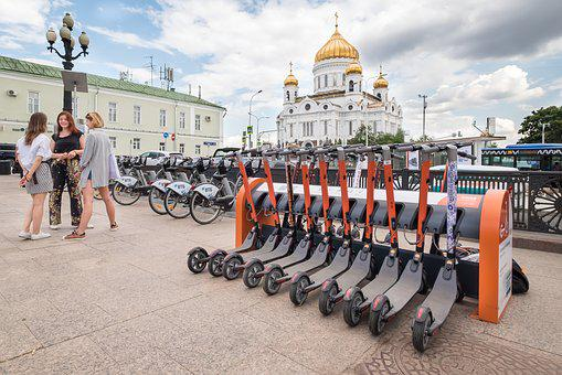 Scooter, Public, Transport, Rent, City, Urban, Moscow