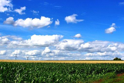 Landscape, Northern Germany, Nature, Sky, Clouds