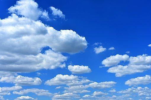 Clouded Sky, Clouds, Cumulus, Cumulus Clouds