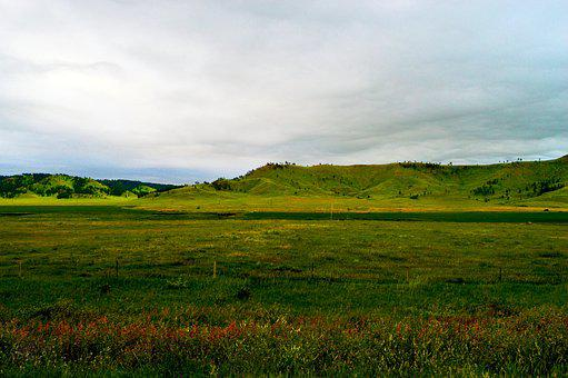 Grassland, South Dakota, Horizon, Usa, Landscape