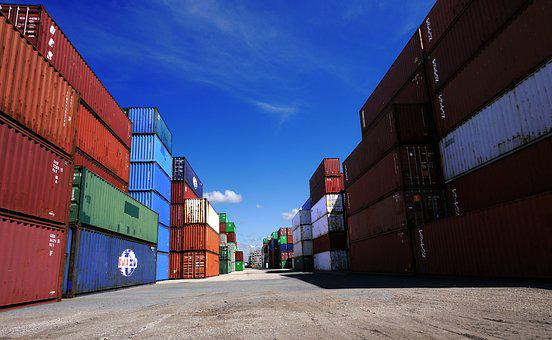 Container, Metal, Port, Iron, Warehouse, Subwoofer