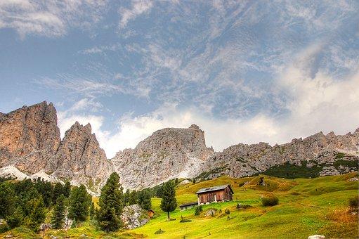 Cir, Val Gardena, Dolomites, Alpine, Italy, South Tyrol