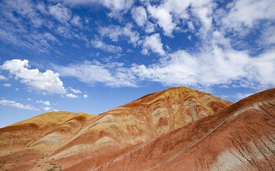 Danxia, Yadan, Canyon, Earth, Landscape, Zhangye