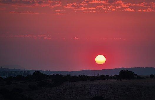 Manzara, Doğa, Sun, Güneş, Nıght, Günbatımı