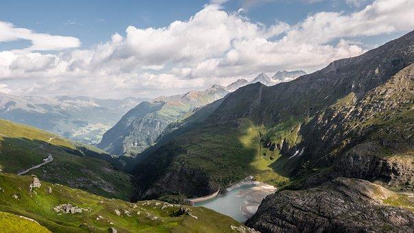 Landscape, Mountains, Grossglockner High Alpine Road