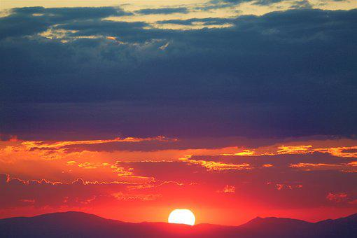 Sunset, Nature, Sky, In The Evening, Clouds, Solar