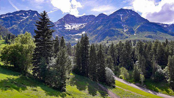 Landscape, Mountains, Outdoors, Scenic, Sundance, Trees