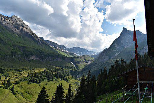 Valley, Landscape, Nature, Panorama, Mountain, Sky