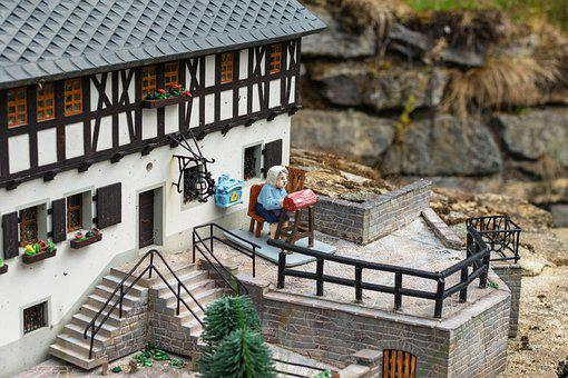 House, Window, Stairs, Building, Facade, Masonry, Roof