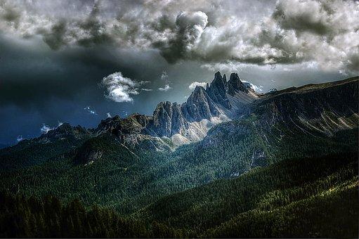 Croda Da Lago, Dolomites, Italy, Nature, Blue, Summer