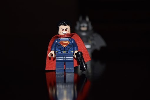 Superman, Lego, Hero, Krypton, Justice League, Batman