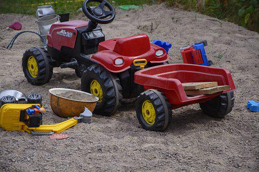 Sand Pit, Children Toys, Tractor, Toys, Summer