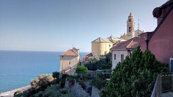 Liguria, Italy, Cervo, Vacations, Summer, Village