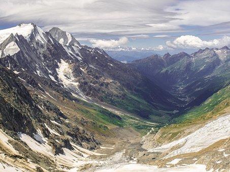 Landscape, Mountains, Valley, Switzerland, Lötschental