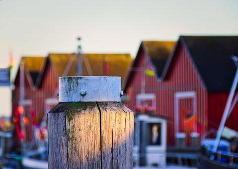 Boltenhagen, Port, Water, Hut, Wood Pile