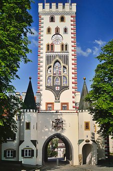 Tower, City Gate, Bayer Gate, Landsberg Am Lech