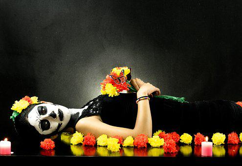 Day Of The Dead, Death, Women, Dark, Halloween, Dead