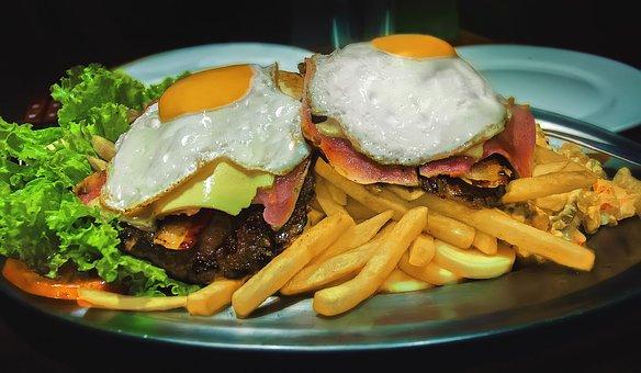 Fries, Egg, Eat, Delicious, Protein, Kitchen, Breakfast