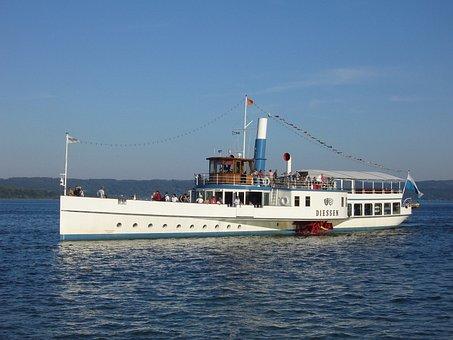 Paddle Steamer, Ammersee, Dießen, Diessen, Ship