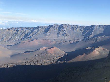 Maui, Hawaii, Sunrise, Haleakala, Landscape, Crater