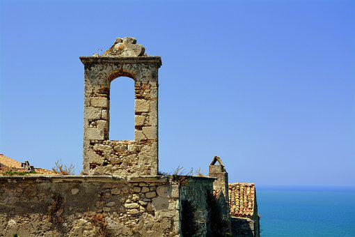 Wall, Sea, Ancient, Historian, Roof, Peschici, Gargano