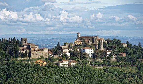 Italy, Toscana, Region Montecatini, Historic Center