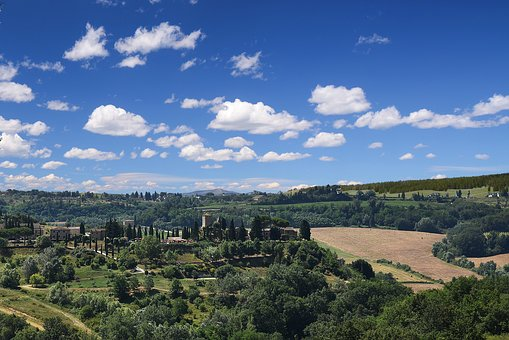Italy, Toscana, Green, House, Landscape, Nature, Hill